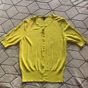 Ann Taylor Chartreuse Cardigan - Size XS